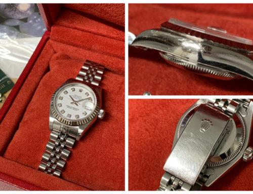 腕時計「ロレックス デイトジャスト レディース 79174G (傷多)」買取りました