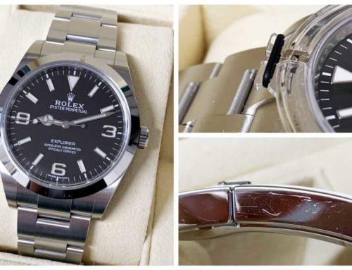 腕時計「ロレックス エクスプローラーI 214270」買取りました